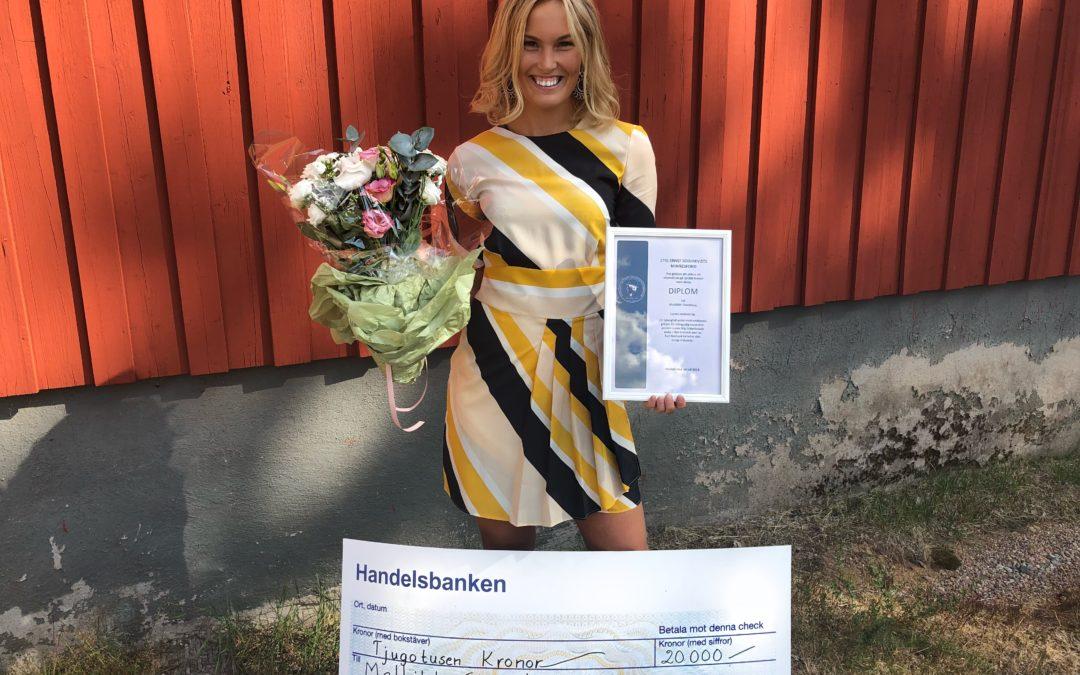 Eskilstunarevyns VD får stipendium!
